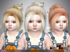 Sims 4 CC's - The Best: RISE ( HAIR 34 - TODDLER ) by TsminhSims