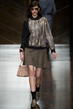 Trussardi Fall 2014 Ready-to-Wear - Collection - Gallery - Look 1 - Style.com