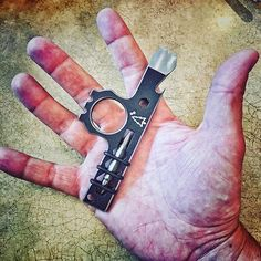 """We are still taking pre-orders for the next batch of """"Wise Guys"""". Colors will be Dark Bronze and Gun Metal (silver). $85 shipped. Pry bar, cap lifter, 1/4"""" bit driver with double sided bit, 3 box wrench sizes, and a """"knuckle protector"""". Gotta protect you knuckles..... DM us for an order.  #WiseMen #wiseguy #prybar #knucks #2a #edc #edcgear #everydaycarry #pocketdump #igmilitia #pewpew #gear #comeandtakeit #freedom #prepper #knivesdaily #pockettools #multitool #guns #dtom #survival…"""