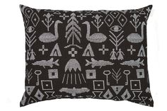 Saana ja Olli. Maailman synty interior pillow cover, large