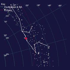 Map of The Constellation of Aquarius