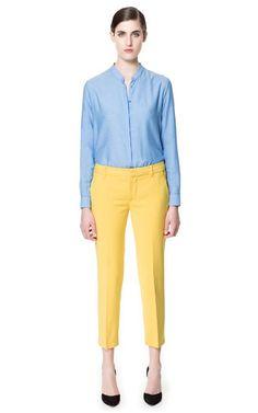 Zara, yellow + light blue