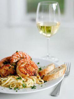 Camarão + Vinho Branco.