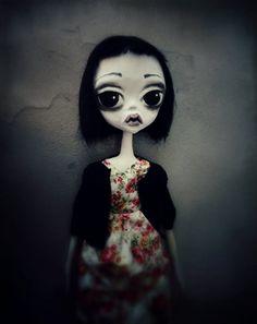 Art doll OOAK art doll ooak Art dark doll by MademoisellesBleues