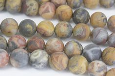matte crazy lace agate beads - lace gemstone beads - natural lace agate jewelry beads - frosty stone beads - yellow gemstone beads -15inch