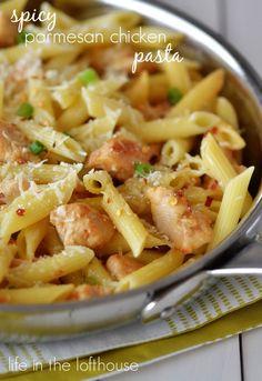 Spicy Parmesan Chicken Pasta