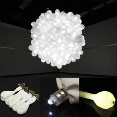 5pcs 12inch LED Helium Air Balloons Wedding Light Up Decoration Weekends Party