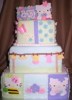 Baby Shower Cakes | Divine Cakes by Janice: Hello Kitty Baby Shower Cake