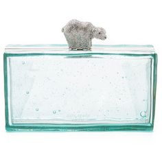 Kate Spade New York Polar Bear Clutch ($400) ❤ liked on Polyvore featuring bags, handbags, clutches, multi, kate spade handbag, bear purse, kate spade, kate spade purses and kate spade clutches