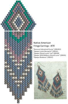 Linda's Crafty Inspirations: Native American Fringe Earrings - #79