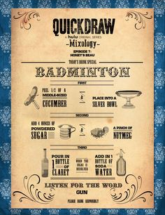 Quick Draw on Hulu Badminton Mixology