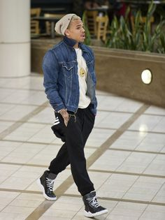 All you gotta do is watch me, look what i can do with my feetss .-Chris Brown