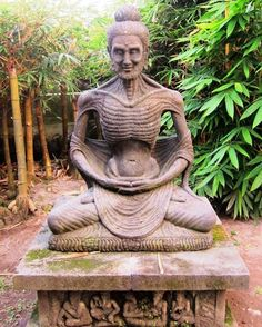 Starving Buddha (found on Pin TL).