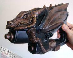 Steampunk Dragon Prop Gun, Fantasy Ray Gun Prop, OOAK Dragon Gun Prop, Steampunk Gun, Dragon Pistol, Original Prop Weapon, Modded Toy Gun