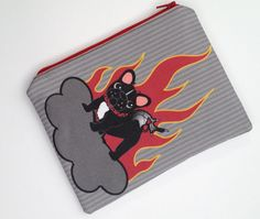 Hellion Frenchie Pouch от StitchyWitchyDesigns на Etsy, $20.00