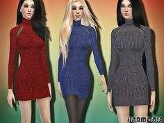 The Sims Resource: Cool Look Wool Sweater Dress by Harmonia • Sims 4 Downloads Check more at http://sims4downloads.net/the-sims-resource-cool-look-wool-sweater-dress-by-harmonia/