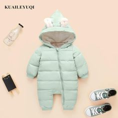 Snowsuit down cotton baby Rompers