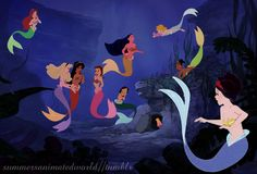 Mermaid Princesses - disney crossover Photo (33608182) - Fanpop