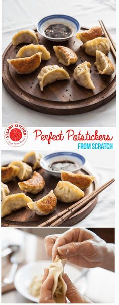 Chinese potsticker dumplings recipe - all from scratch! Step by step photos. ~ http://steamykitchen.com