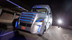 This is the first road-legal big rig that can drive itself  Last night at the Hoover Dam, Freightliner unveiled the Inspiration Truck — a partially autonomous big rig that could save lives, mitigate driver fatigue and stress, and reduce CO2 emissions up to….   SocioTech Tumblr @SliverDemon