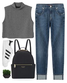 """""""Who doesn't love Adidas Originals?"""" by tinasxx ❤ liked on Polyvore featuring Monki, 7 For All Mankind, Henri Bendel, adidas Originals, Lux-Art Silks, women's clothing, women, female, woman and misses"""