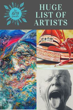 A huge list of artists listed by theme created for Art Teachers by The Arty Teacher
