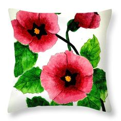 Lovely Throw Pillow by Flamingo Graphix John Ellis