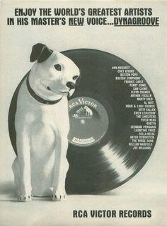 RCA Dog Jazz Music Ad Vintage Wall Advertising Art by StillsofTime