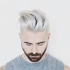 Living for Kyle Krieger's two toned look.brilliant color by Stephanie Forsyth sexy cut by Aaron King ✂The perfect Men's Hairstyle is just a Hairflip away.