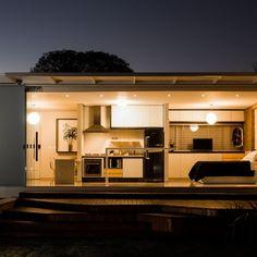 Casa pré-fabricada de 45 m² com arquitetura moderna