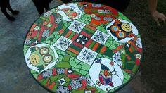 Mesa. Mosaico sobre chapa