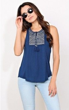 Iris Embroidered Knit Top