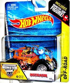 "INSTIGATOR #45 Hot Wheels Monster Jam 2014 Includes MJ Figure ""EDGE GLOW""  #HotWheels #HotWheels"