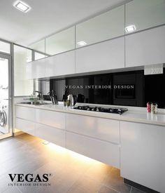 kitchen cabinet design - floor level under cabinet lighting!