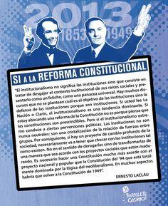 Ernesto Laclau #Constitución #ReformaConstitucional #Política //  #Frases #Citas