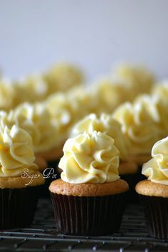 French vanilla baby cakes armed with Swiss buttercream