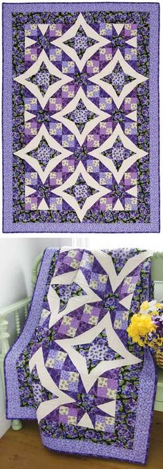 How absolutely stunning is this???? PANSIES IN PARADISE QUILT KIT from Keepsake Quilting