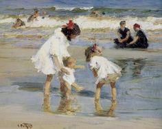 Potthast 8x10 Print Children Seaside Ocean Beach Summer Fun Art 158 A Holiday