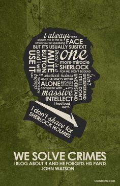 BBC Sherlock (Watson) Inspired Quote Poster.