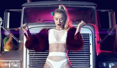 How much do you love this white bodysuit Iggy Azalea wears in her video Work.