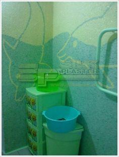 При #ремонте в #ванной комнате приобретать плитку и оплачивать дорогостоящие работы не было возможности. Для #отделки_стен выбрали #шёлковую_штукатурку (#жидкие_обои) #Silk_Plaster - можно выбрать цвет и #нанести #своими_руками. #Шёлковую_штукатурку можно использовать и в #ванных_комнатах, но при условии дополнительного покрытия лаком. #Нанесение шёлковой штукатурки SILK PLASTER происходит легко специальным шпателем.  https://www.plasters.ru/info/design-ideas/