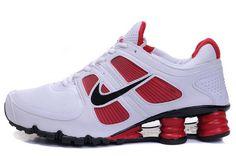 66a31c5a717 Nike Shox Turbo+ 11 White-red 407266 023 Mens Nike Shox