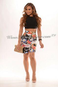 Jessa 2 piece bodycon dress