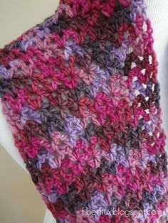 Fiber Flux...Adventures in Stitching: Free Crochet Pattern...Gelato Infinity Scarf -This would be great for the funky green in my stash