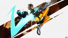 Download Tracer Game Art Overwatch Girl 3840x2160