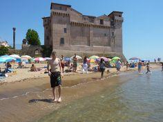 Santa Severa beach by Santa Marinella, Lazio, Italy