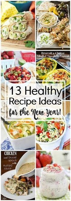 It's that time again when all of the fun of the holidays is behind us and we're thinking about how we are going to fit into those jeans again. I have a round-up of healthy recipes for the New Year that you can start eating in January to get back on track to eating right.