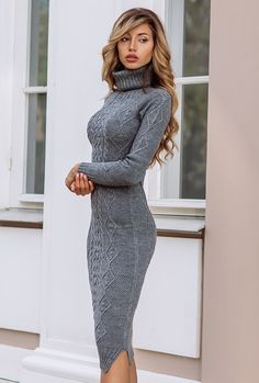Strickkleid A Cocktail Gown For Each Physique Sort Some of the versatile attire that had been ever d Winter Date Night Outfits, Winter Dresses, Fall Outfits, Casual Dresses, Fashion Dresses, Dresses Dresses, Dresses Online, Sweater Dress Outfit, Dress Outfits