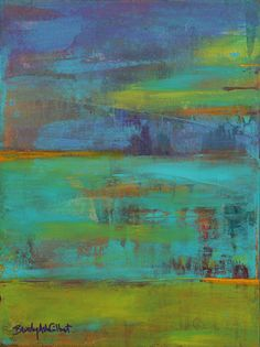 Abstract in Purple and Teal: Inspired by the huge paintings a dear friend and I enjoyed at the Royal Academy in London
