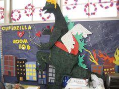 Valentines Day 2011 Godzilla or cupidzilla.  For the Functional Skills Classroom